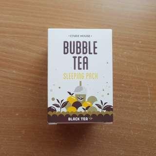 Etude House Black Tea Bubble Tea Sleeping Pack