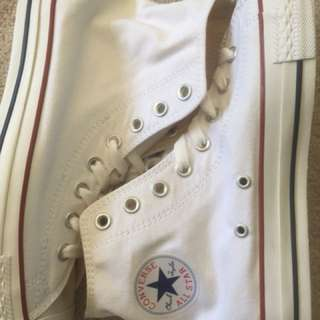 White Chuck Taylor All Star high tops Converse