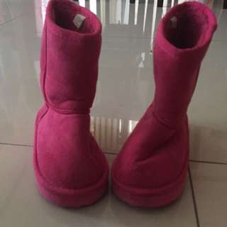Preloved Pink Boots