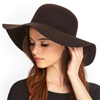 NWOT Brown Felt Floppy Hat
