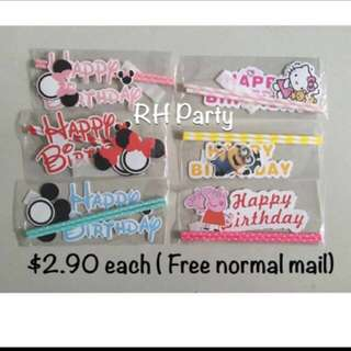 (9/11) Free Normal mail $2.90- Happy Birthday Cake Toppers/ Tags / Baking Supplies