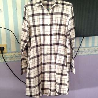 Uniqlo Flanel Shirt Dress