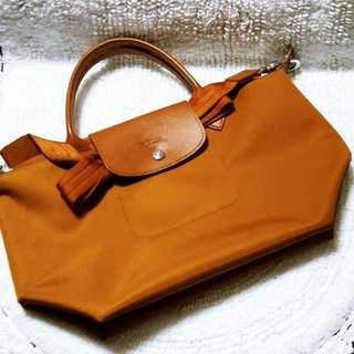 Authentic Longchamp Neo Small in Caramel