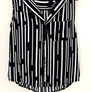 Katies black and white top size 12