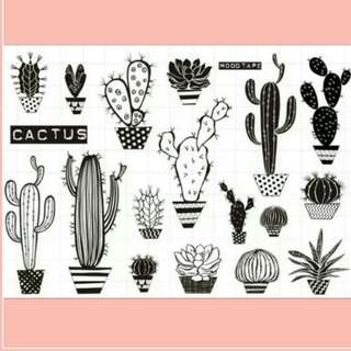 Coming Soon Cactus Combo Clear Stamp Set