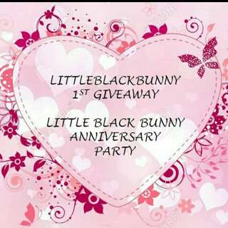 [ONGOING GIVEAWAY] Little Black Bunny 1st Anniversary