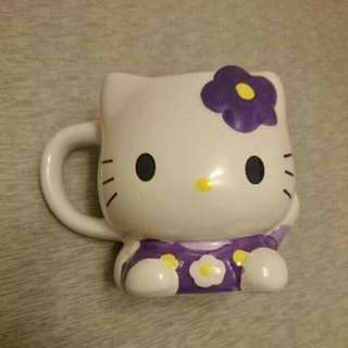 Hello Kitty 凱蒂貓 銀之鐘 小杯子 擺飾 瓷杯