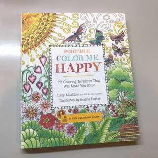 Portable color me happy zen coloring book!