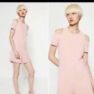 Zara baby pink romper