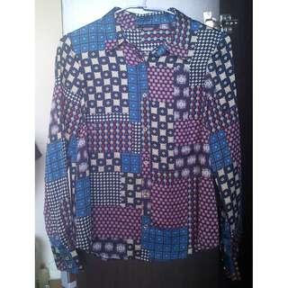美國 TOMMY HILFIGER 超美復古花紋設計滑質襯衫