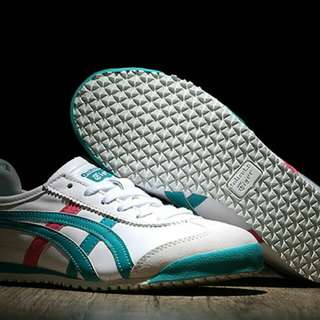 Authentic Onitsuka White/ Green/ Red) Tiger Mexico 66