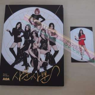 [UNSEAL CD][READY STOCK]AOA KOREA 2ND MINI ALBUM WITH MIN A PHOTO CARD(NO POSTER) OFFICIAL ORIGINAL FROM KOREA (PRICE NOT INCLUDE POSTAGE)PLEASE READ DETAILS FOR MORE INFO