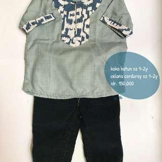 Setelan Anak Kemeja Koko Celana Murah