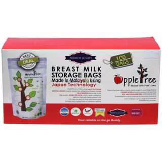 Apple Tree Breastmilk Storage Bag (100pcs) - 8oz