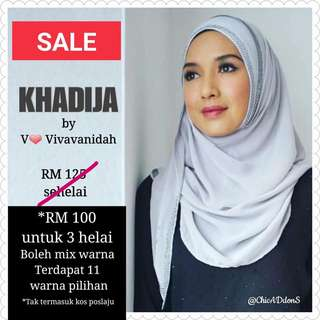 SALE !! ORIGINAL Khadija Instant Shawl V by Vivavanidah (3 pcs for RM 100)