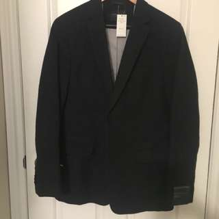 NEW 42 long blazer, charcoal grey from banana republic