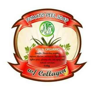TOMATO PEEL SOAP W/ COLLAGEN