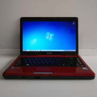 Toshiba Satellite L510 i3-M330 2GB Ram 320GB HDD (With Charger/USB mouse/Case/Bag)