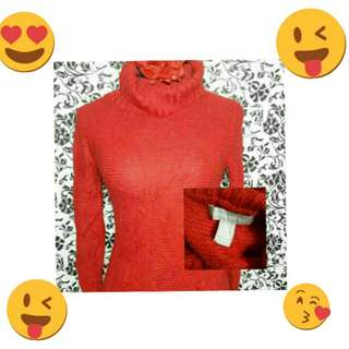 Banana Republic Turtleneck Red Cowl Neck