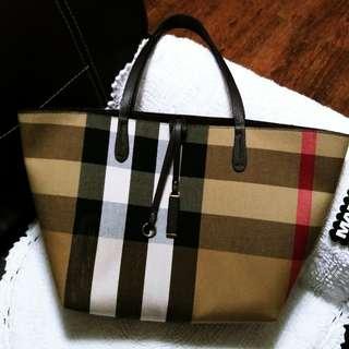 Burberry Inspired Reversible 3in1 Tote Bag