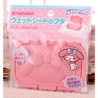 🚚 日本帶回~Sanrio 三麗鷗美樂蒂 kiki&LaLa 濕紙巾專用蓋 大包裝用濕紙巾蓋 隨身攜帶包濕紙巾蓋 可重覆使用