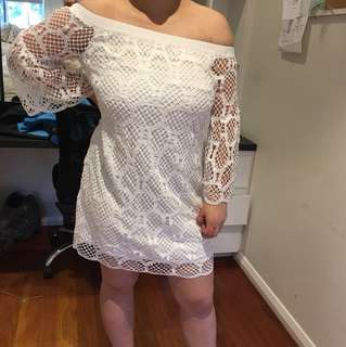 Witchery white lace dress