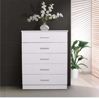 Brand new 5 drawers tallboy on sale