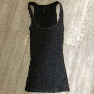 Forever New Black and Silver Singlet Size 8