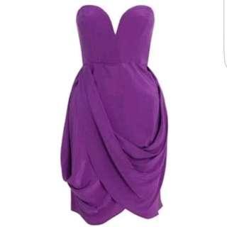 Zimmermann Bon Bon Strapless Drape Dress