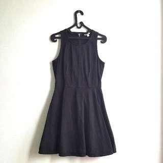 GAP BASIC Black Denim Dress