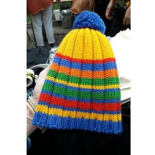 🚚 古著 彩虹毛帽