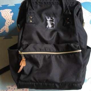 幾乎全新 日本暢銷媽媽包 /書包 anello 黑色