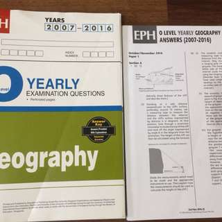 O level Geography TYS (yearly)