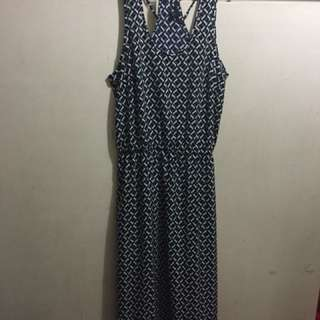 Old navy (tag removed) long dress with detailed back