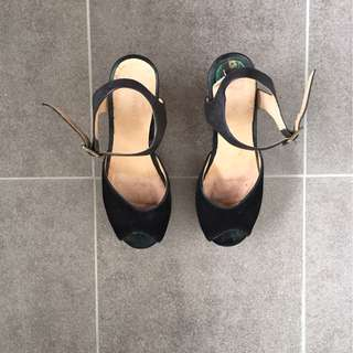 """Gorman 4""""wedge heel summer sandals - size 40"""