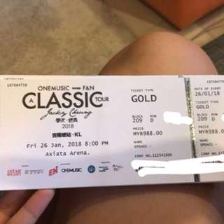 Jacky Cheung GOLD(ROW D)