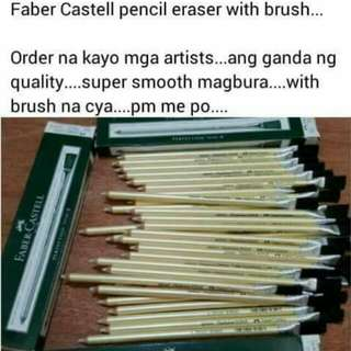Pencil eraser Faber Castell with brush