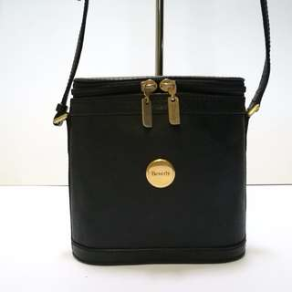 Beverly Black Leather Sling Bag