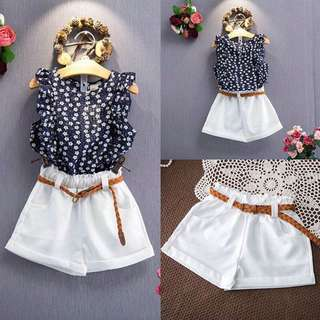 Sleeveless Top + Shorts set