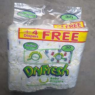 Dryfesh cotton  diaper (4pcs FREE)