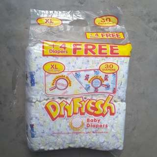 Dryfresh Cotton Diaper 4pcs FREE