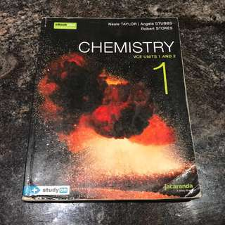 Jacaranda chemistry 1 VCE units 1&2 textbook jacplus