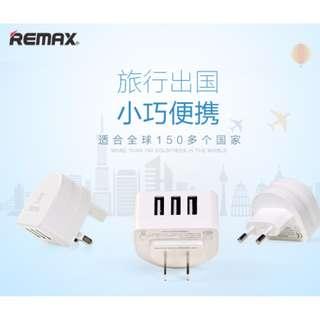 REMAX 奔月RP-U31充電插頭安全極速3U快充