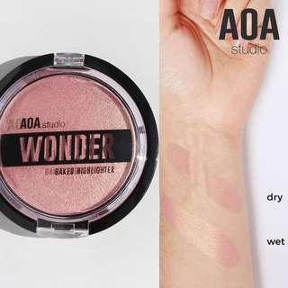 Fresa. Wonder Baked Highlighter Vegan US Drugstore Cruelty-free Cosmetic Makeup Aoa Studio