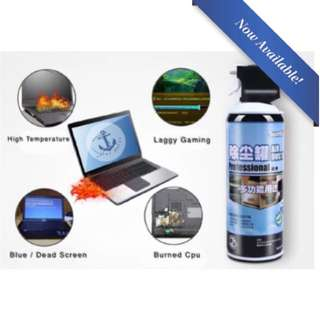 400ml Portable Dust Off Can Compressed Air Dust Removal Non-Flammable High-Pressure Dust Removal System ( Compressed Air Spray )
