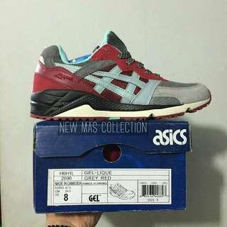 """Sepatu Asics Gel lique """"Grey Red"""""""
