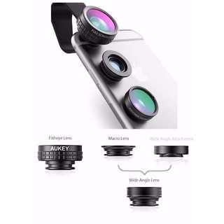 PRICE SLASH - AUKEY 3-in-1 Wide Angle / Macro / Fisheye Phone Lens