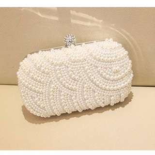 women beaded pearl luxury clutches purses dinner evening bag