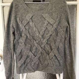 100% Lambs Wool Grey Knit - Country Road