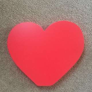 Wooden red heart